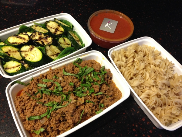 Rosemary Ground Beef Bolognese With Baby Spinach & Brown Rice Pasta