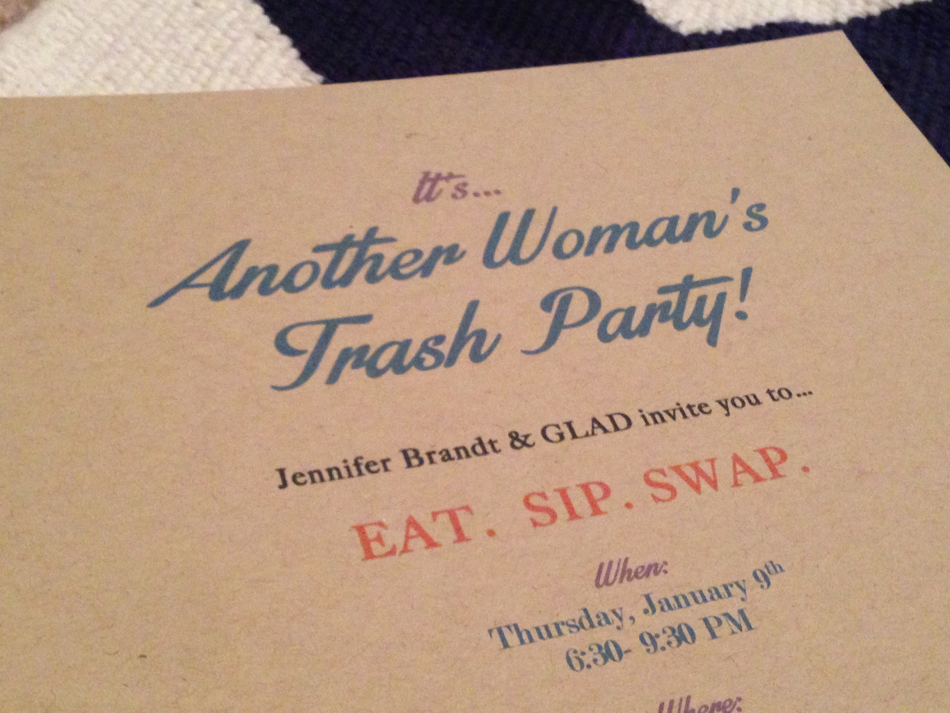 CLOTHING SWAP PARTY WITH GLAD® | Perfectly Disheveled