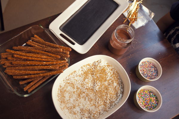 Do It Yourself Pretzel Dipping Station for the Kiddos