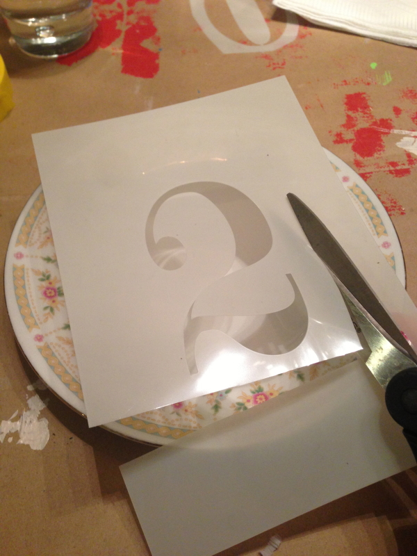 How to Stencil a Plate - Perfectly Disheveled